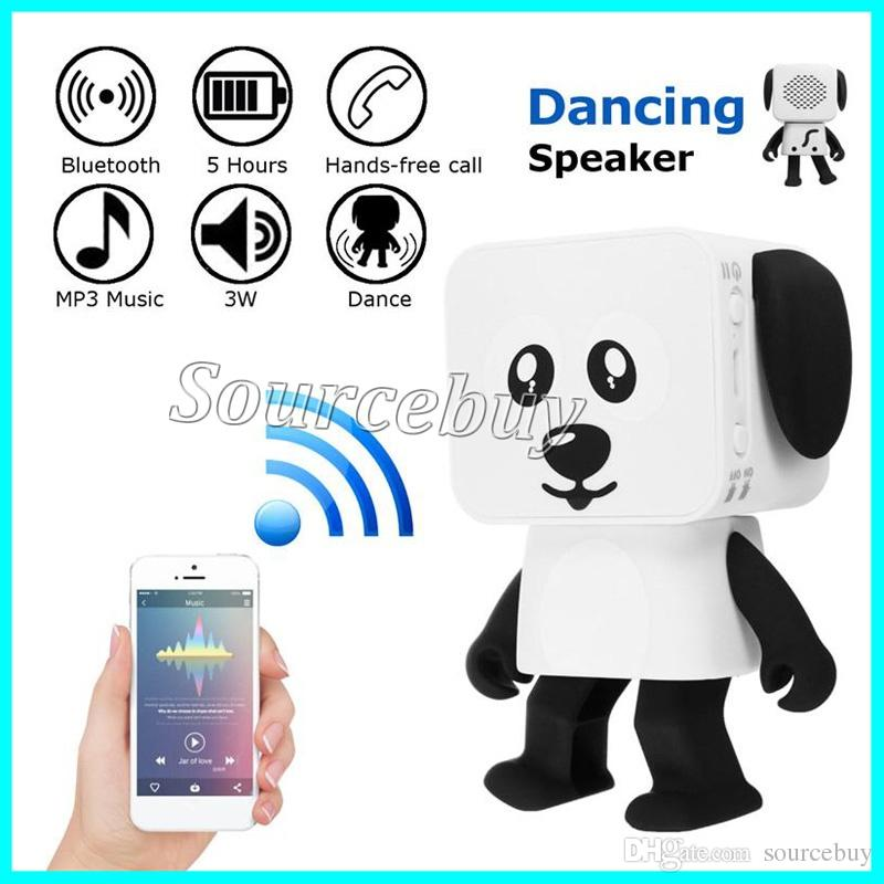 Fun Dancing Square Doggie Robot Bluetooth Speaker Walking Toys Wireless Speakers Smart Dance Electronic Toy for Kids New Best Christmas Gift