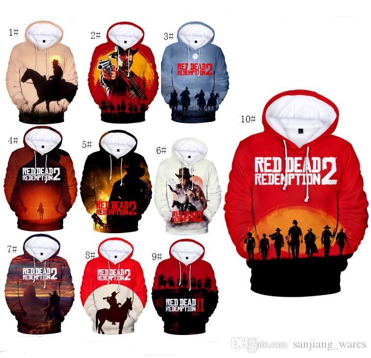 2019 2xs 4xl red dead redemption 2 hoodies streetwear 3d anime