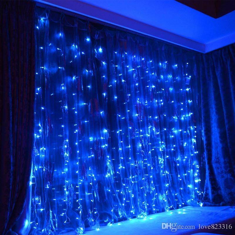 4 mx 3 m LED Noel Işıkları Dize 400 Led Perde Işık parti Peri Düğün Noel Otel Tatil Dekorasyon Lamba 220 v 110 V ABD, AB İNGILTERE 10 adet / grup