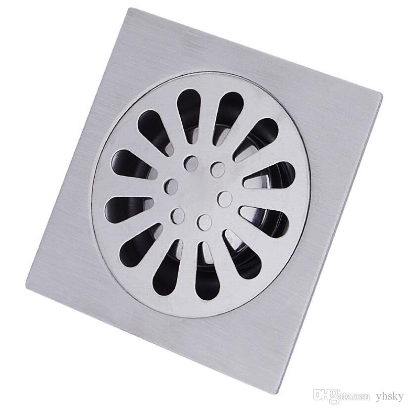 10*10 3.5inch Floor Drain Cover Colander Shower Waste Drainer Full Brass  Bathroom Kitchen Colander Floor Drains Bathroom Accessories Drains Faucets  ...