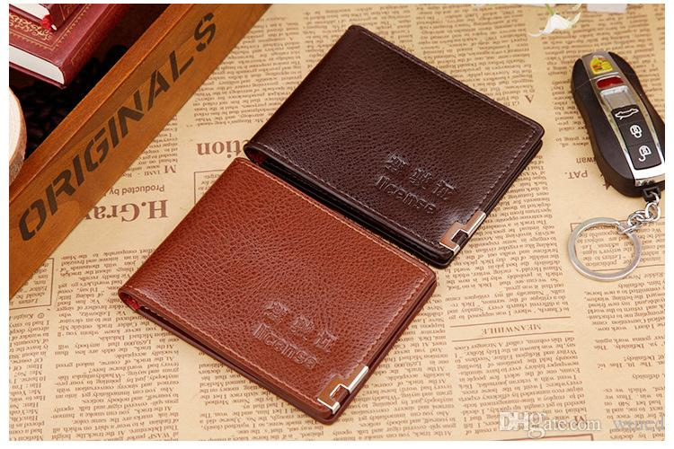 2017 designer high-quality real PU wallet card more letter credit card bus card package Superman wallet for men women with