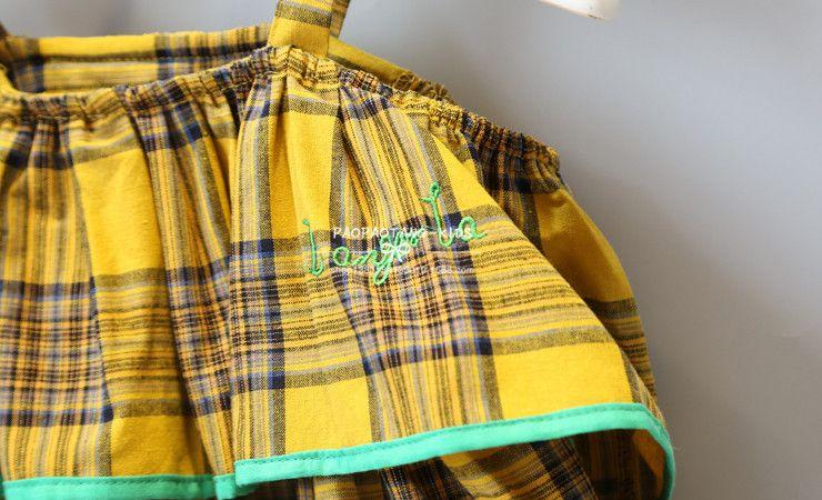 robe 2018 INS hot styles Nouvel été fille enfants mignon jaune plaid imprimé Robe enfants élégante haute qualité dentelle gilet robe taille 80-120cm
