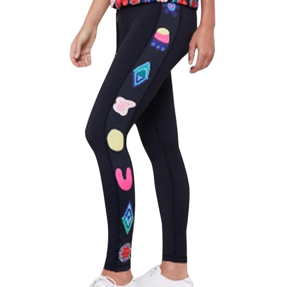 2019 Letter Pantalon Sport Femme High Waisted Pantalon Yoga Femme