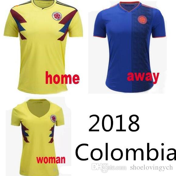 2019 New 2018 Colombia World Cup Jerseys JAMES FALCAO CUADRADO BACCA Football  Shirts 18 19 Colombia National Team Home Away Soccer Jerseys From ... e652a204235d