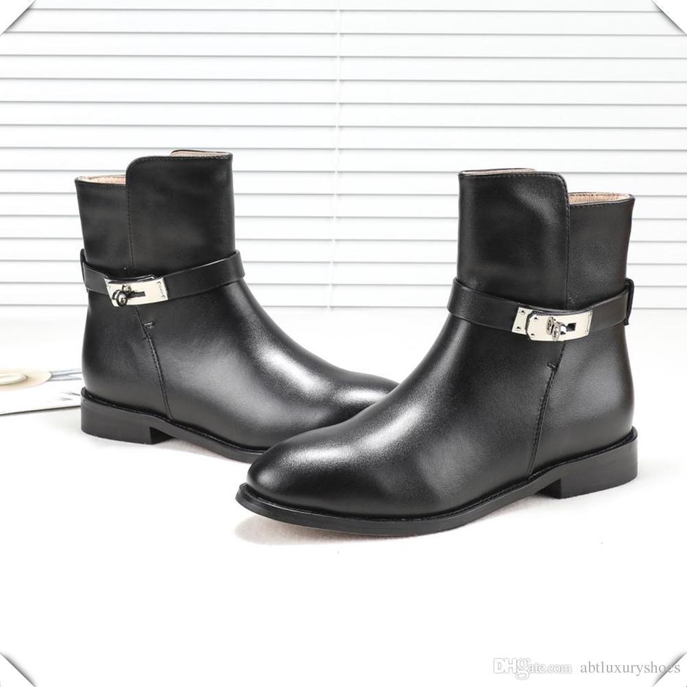 cebf37726864e4 Großhandel Mode 2018 Freizeitschuhe Frauen Booties Kausalen Ritter Damen  Stiefel Einzel Vintage Kurze Booties Slip Auf Sexy Schnalle Schuhe Frau Von  ...
