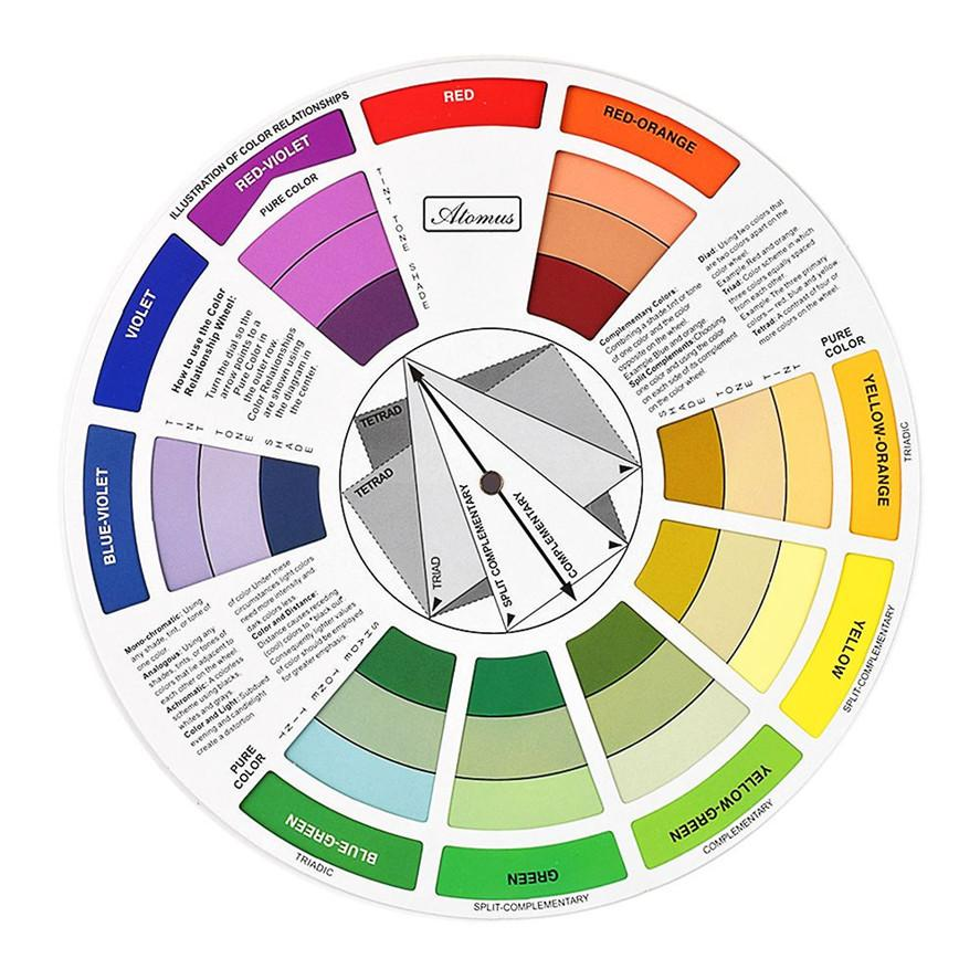 Atomus Artists Color Wheel Mixing Guide 235cm Diameter Tattoo Tattoomachinediagramjpg Accesories Permanent Makeup Micro Pigment Ink Damascus Machine Digital