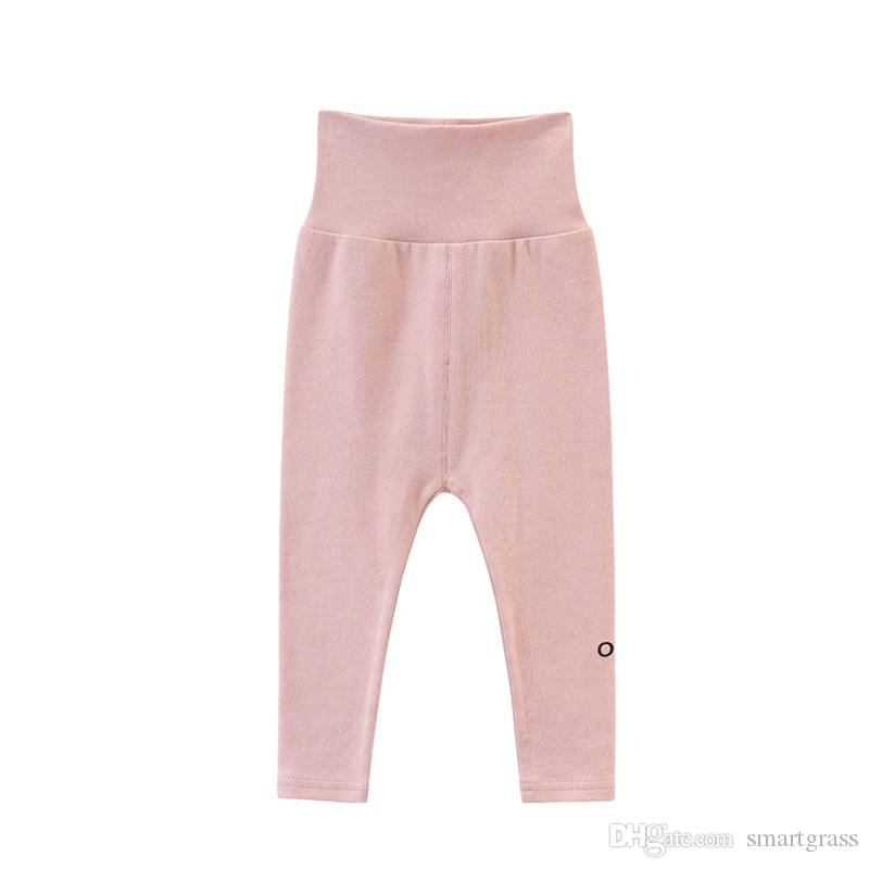 60fcce755 2019 Solid Color Baby Leggings Boutique Cotton Baby Girl Clothes ...