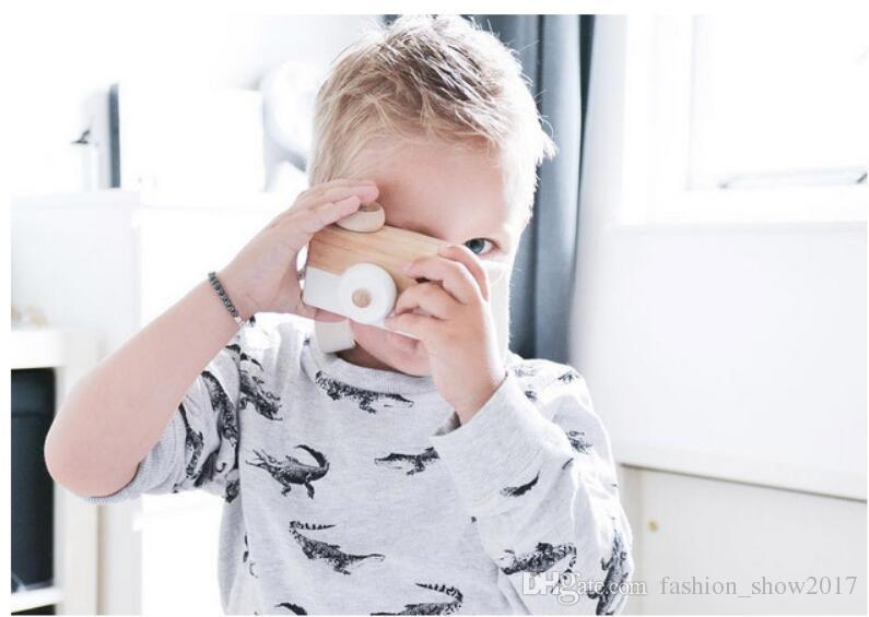 3 stil Kinder Holz Kamera Kinder Kühlen Reise Mini Spielzeug Baby Nette Sichere Natürliche Geburtstagsgeschenk Dekoration Kinderzimmer