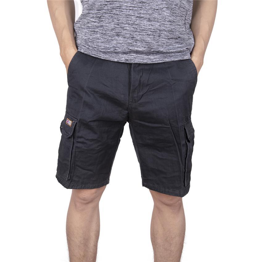b74be7232c Compre MYLEY Summer Short Para Hombres Baggy Multi Pocket Zipper Mens Cargo  Short Hot Breeches Hombre Negro Gris Azul Caqui A  22.06 Del Donahua