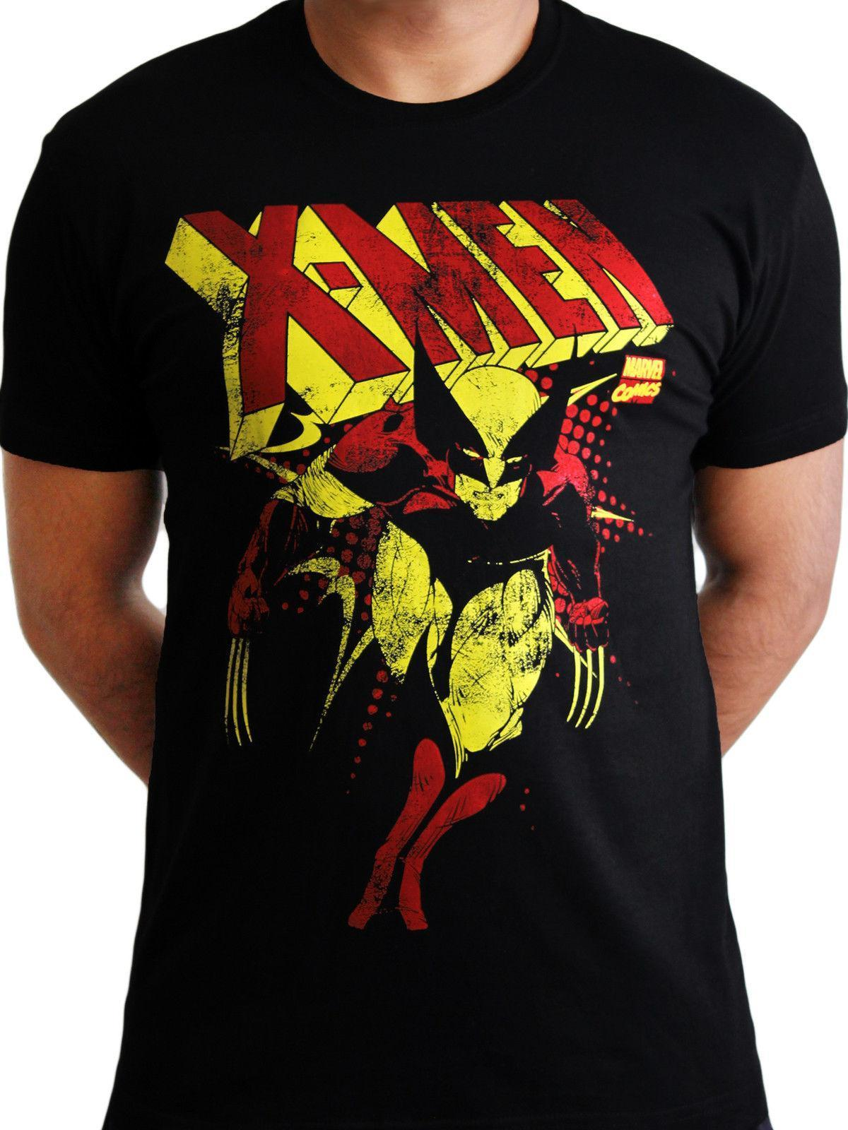 96ecb9c0 X Men Wolverine Distressed Official Marvel Avengers Mens Black T Shirt Raid Shirt  T Shirts In A Day From Linnan00003, $14.67| DHgate.Com