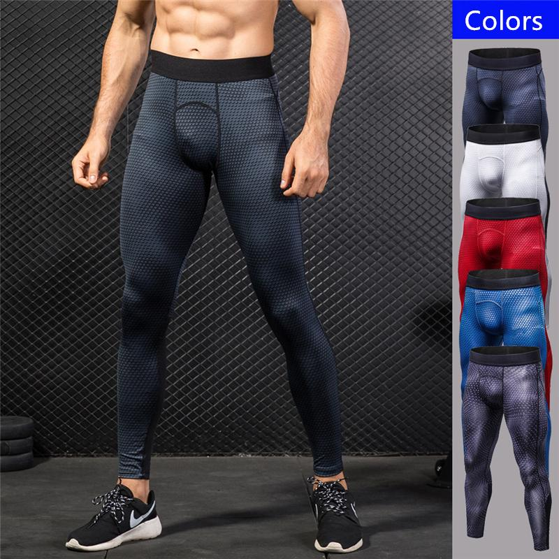 bdf07e09db2e1 2019 Mens Sports Pants Bodybuilding Sweatpants Yoga Running Jogging Pants  Elastic Fitness Tight Sport Trousers Men Print Athletic Workout Legging  From ...