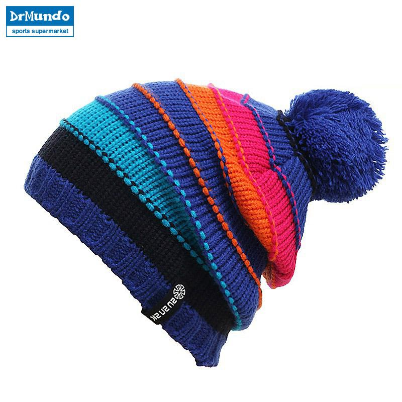 214510ed825 2018 Gorros Snowboard Winter Skating Caps Knitted Ski Hats Skullies ...