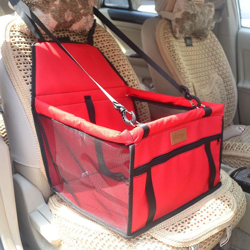 Nueva Llegada Pet Dog Carrier Asiento de Coche Cojín Asiento Seguro Bolsa de Casa Accesorios de Viaje en Coche Bolsa de Asiento de Perro A Prueba de agua Cesta Para Mascotas Productos
