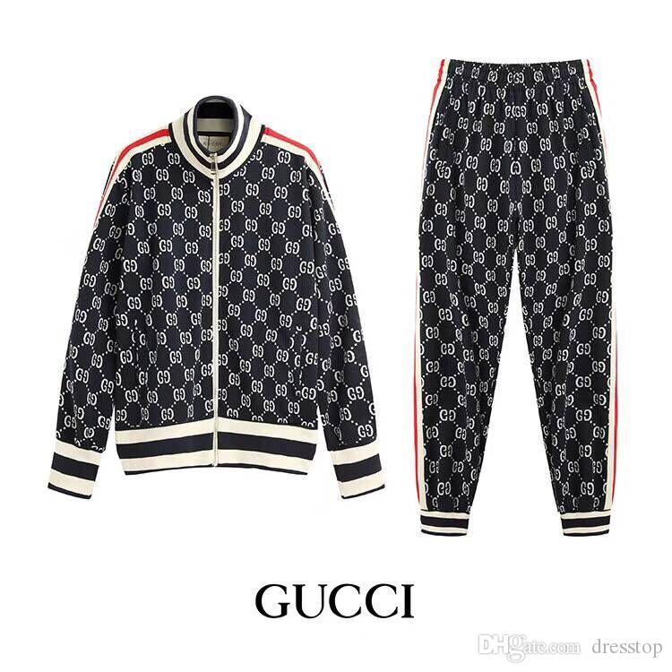 d5db4cdeb Luxury Brand mens designer tracksuits 2 pieces fashion men sports suits  slim fit Autumn sweat suits (Jacket+Pants)