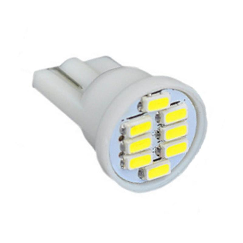 12v dc lights 100Pcs T10 8 SMD 3014 Car Lamps 194 168 192 W5W 8LED 8SMD LED Auto Wedge Parking Light
