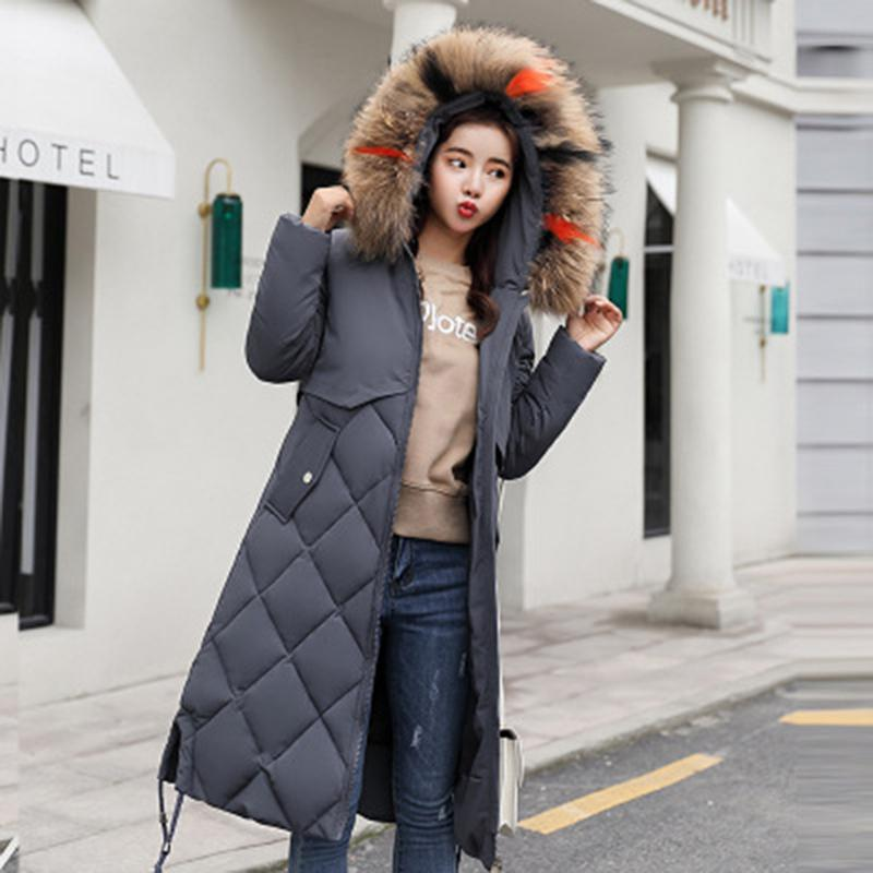 9d63a3bb1c717 Plus Size Winter Women Jacket Coats Big Fur Hooded Warm Winter Parka  Jackets Long Thicken Down Cotton Jacket Women Parkas Mujer UK 2019 From  Qinfeng08