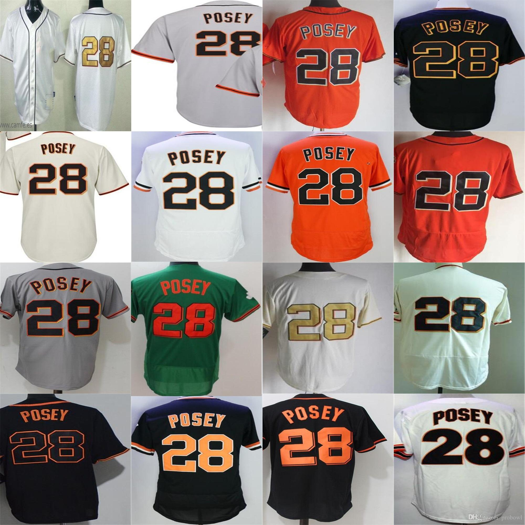 c40ac1a9b 2018 2018 San Francisco Mens Womens Youth Toddler 28 Buster Posey  Commemorative Gold Cream Green Turn Back 60th Patch Cool Flex Baseball  Jerseys From ...