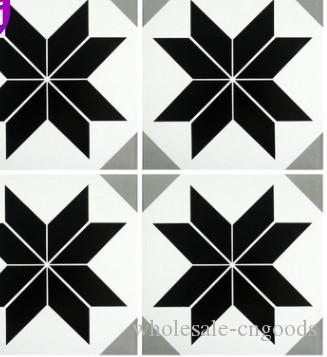 Black and white geometric tiles 300mm dining room living room balcony toilet tile floor tiles wall tiles