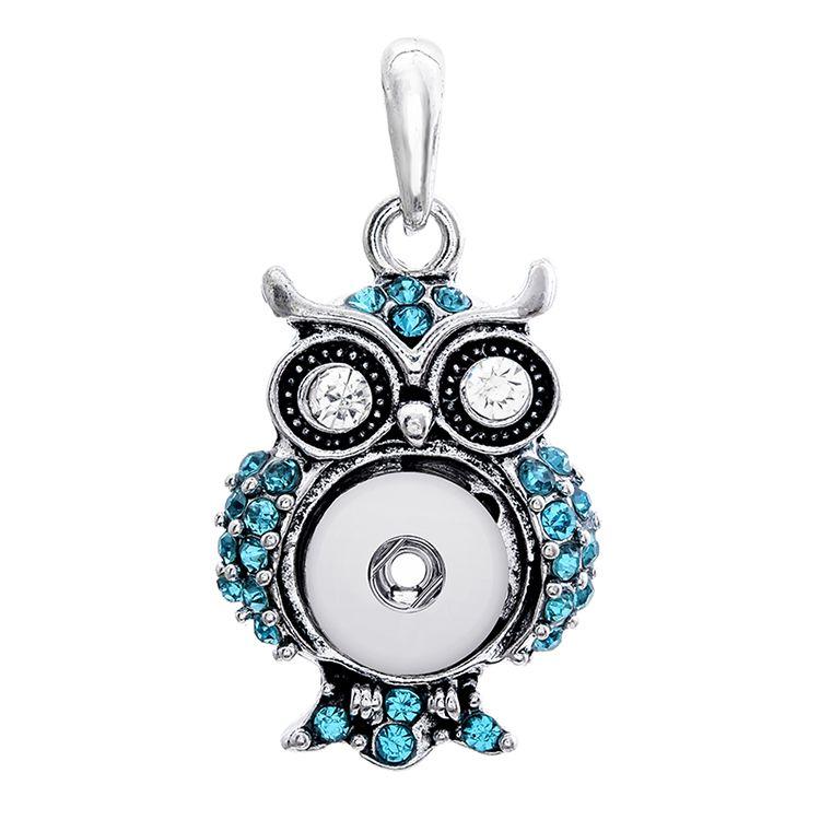 Noosa Owl assortiti 12mm Bottoni a pressione Charms Crystal Heart Multi Collane con ciondolo Catena in acciaio inossidabile