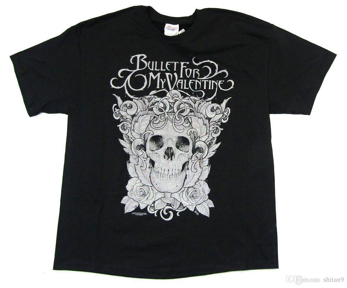 Acheter Bullet For My Valentine Floral Skull Black T Shirt Nouveau ... 762f15e6dca4