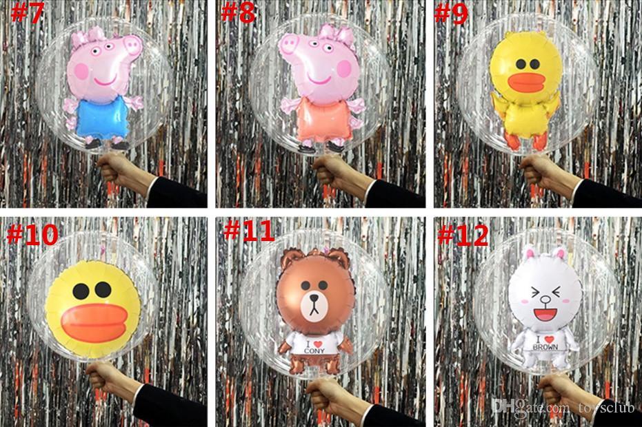12 projeto LED balão luz do dia da noite balão de luz balão de aniversário de natal diy decoração urso coelho animal levou balão