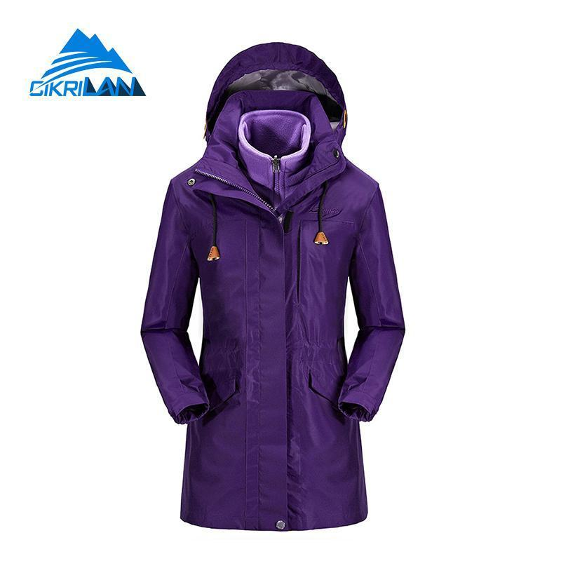 1746eb78a 2019 Ladies Winter Hiking Camping Long Coat Snowboard Ski Windstopper  Waterproof Outdoor Jacket Women Fleece Liner Chaquetas Mujer Y1893006 From  Shenping03, ...