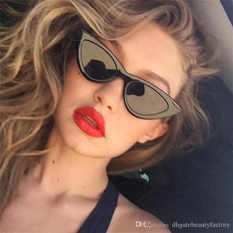 8c7ba6f3dd Compre Gafas De Sol De Moda Retro Triángulo Gafas De Sol Ojo De Gato UV400  Gafas De Visión Limpia Eyewear San Valentín Regalo Agradable A $3.35 Del ...