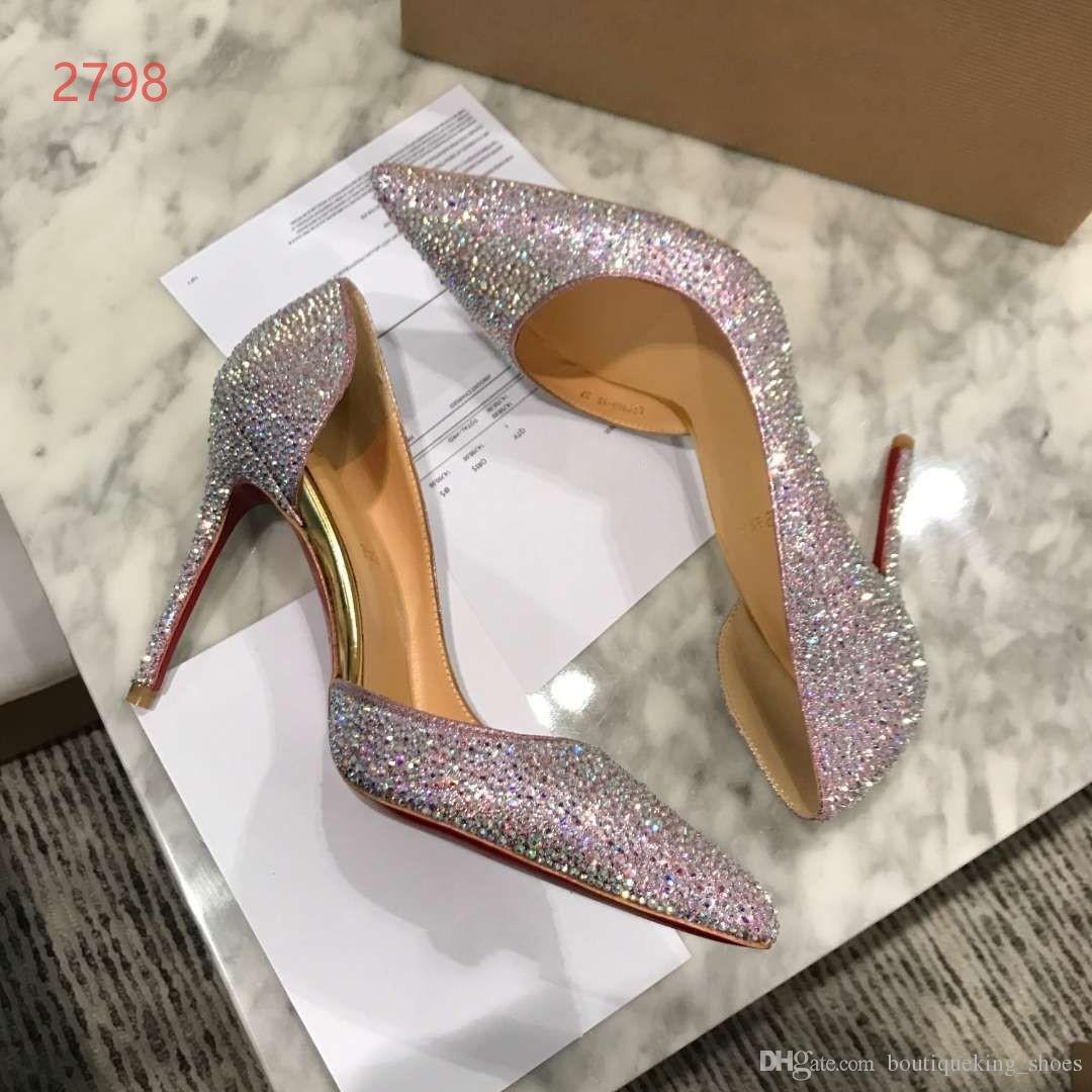 2018 Popular Fashion Luxury Brand Designer High Heel Soft Leather Shoes  Wedding Pumps Dress Party Shoes Elegant Bling Shoes Hot Sale Footwear Sport  Shoes ... 4dba132b5f48
