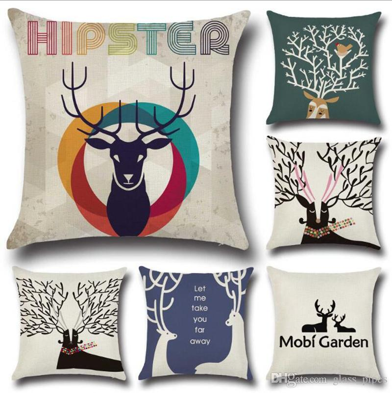 Etonnant Pillow Covers Elk Printed Decorative Pillow Case Car Sofa Santa Cushion  Covers Nordic Geometric Pillowcases Christmas Home Decor Yw1014 Pillow  Covers 24x24 ...