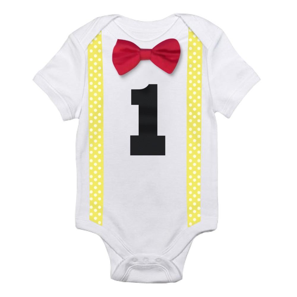 Grosshandel Ein Jahr Baby Strampler Infant Jungen Playsuit Kleidung