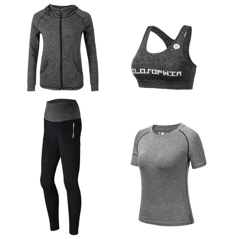 Women Yoga Sets Breathable Sportswear Fitness Suits Sports Bra Running Shirt Jacket Jogging Trainning Pants shorts