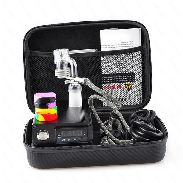 Quartz E Dab Nail Box Kit Electic 14 18MM Female Male Quartz Nail Electric Dab Nail Complete Kit Temperature Controller 100w Dabber Tools