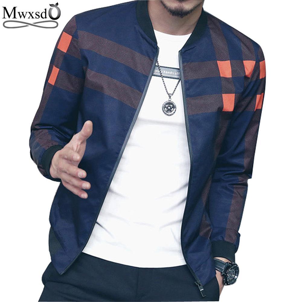 Großhandel Mwxsd Marke Casual Männer Plaid Jacke Männliche Bomberjacke Mode  Slim Fit Jacken Und Mäntel Chaquetas Hombres Jaquetas Von Dolylove, ... bc2f6b158b