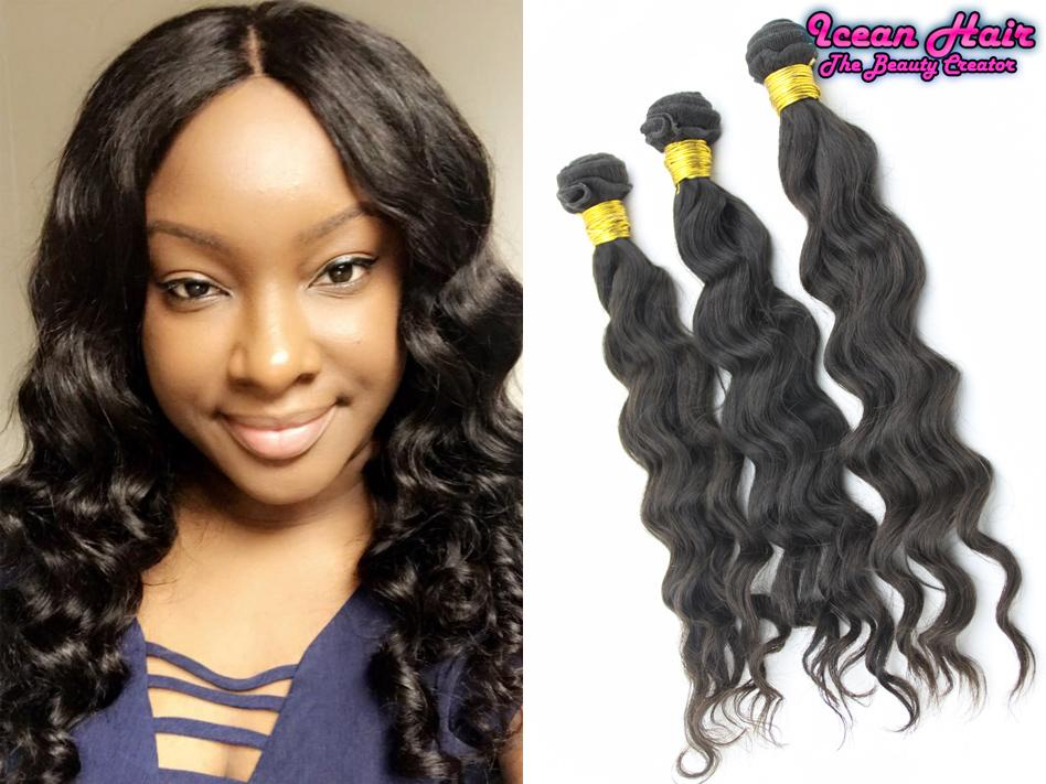Icean Hair Unprocessed Malaysian Virgin Hair Weaves With Natural