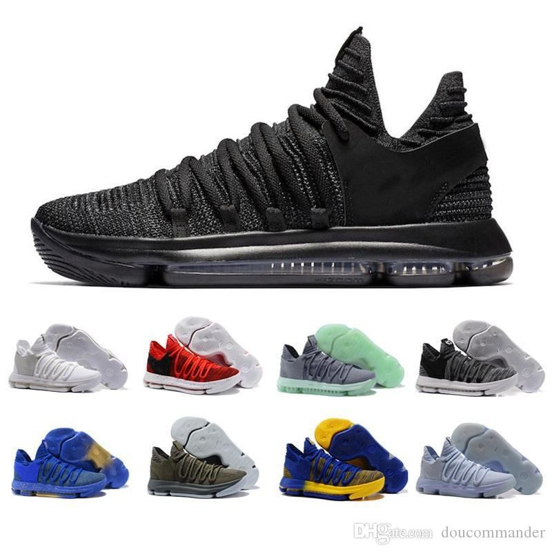 2018 New Zoom KD 10 Anniversary PE Oreo Red kd 10 X Elite Low Kevin durant Grade School Sport Men Basketball Shoes US7-12 real cheap online buy online new buy cheap supply bx3WNWZ72W