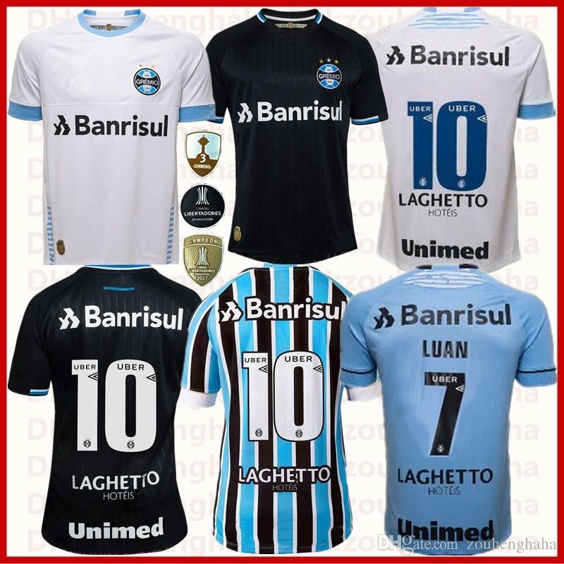 aab7c3320b Gremio Soccer Jersey LUAN Football Uniform 2018 2019 Home Away 3rd ...