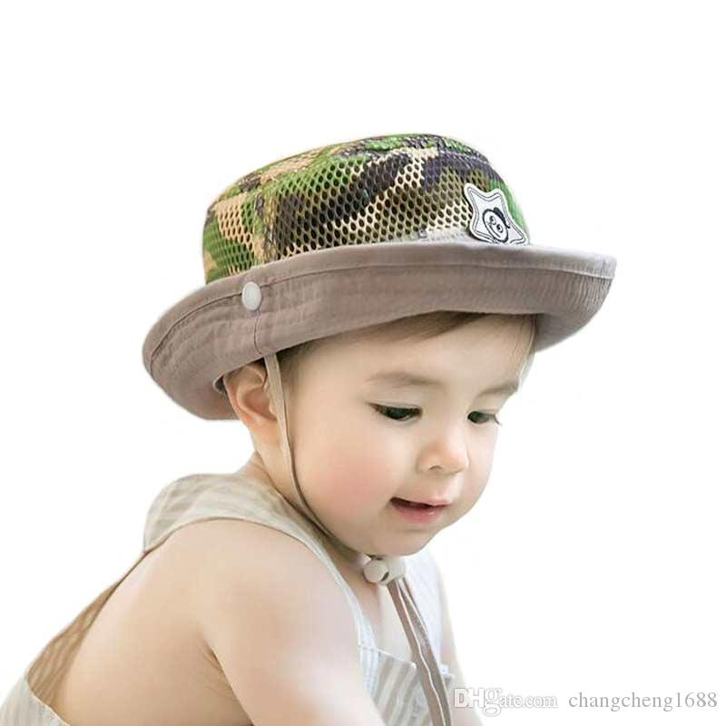 29e4a71c 2019 Unisex Kids Bucket Hats Children Camouflage Mesh Fisherman Caps 2018  Spring Summer Sun Protective Hat MZ5964 From Changcheng1688, $3.56 |  DHgate.Com