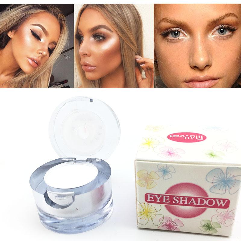 6a6b125e432d 2017 Professional 2 in 1 White Single Eyeshadow Waterproof Long Lasting  Shimmer Face Highlighter Contour Makeup
