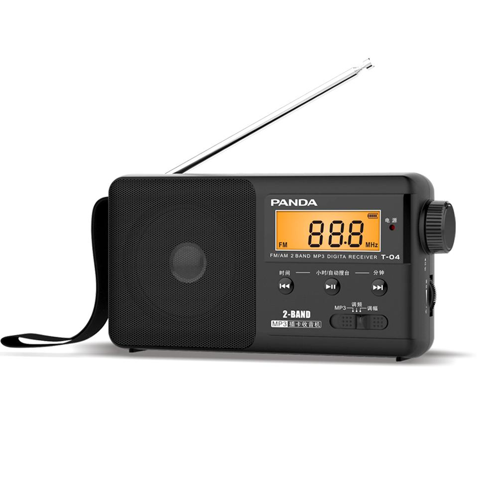 Neue Mode Digitales Tuning Lcd Empfänger Tf Mp3 Rec Player Tragbare Am Fm Sw Volle Band Radio Radio