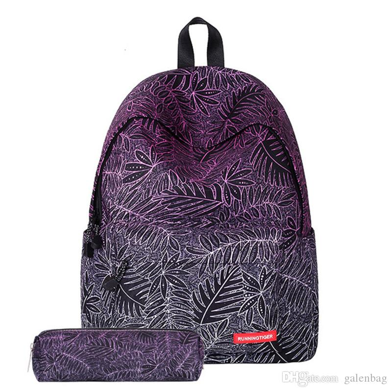 555eb09e0208 Teens Multi-Color Cool Student Backpacks Bag Beautiful Printing Outdoor  Rucksack Japan and Korean Style Backpack with Pencil case