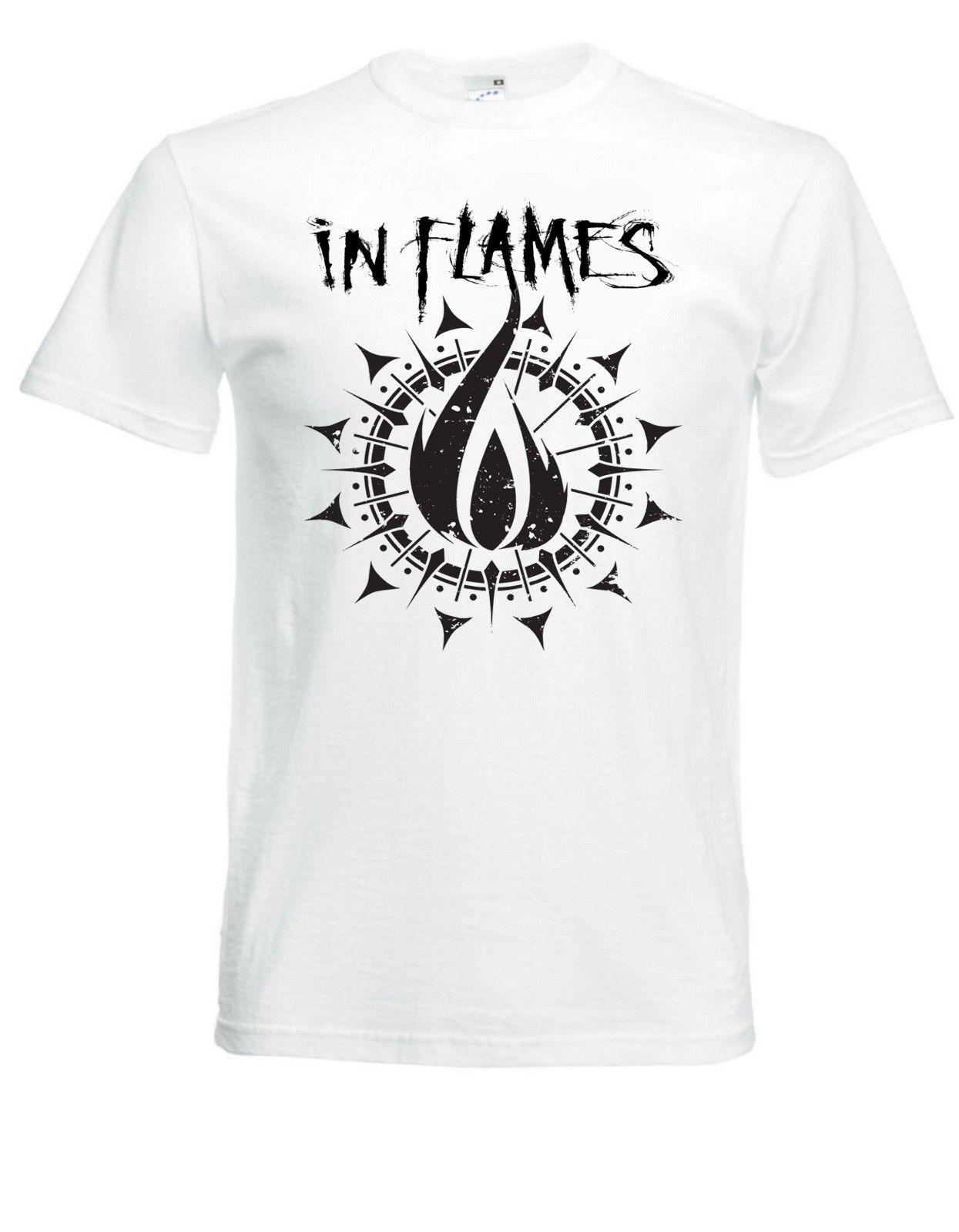 d1f79708937 In Flames Logo White Herren T-shirt Men Rock Band Tee Shirt Online with   12.99 Piece on Beidhgate07 s Store