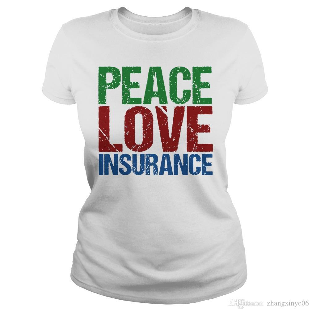 0caca9b0 Peace Love Insurance Agent Shirtsweatshirttank Top Tee Shirts Online  Shopping T Shirts Shop Online From Zhangxinye06, $14.21| DHgate.Com