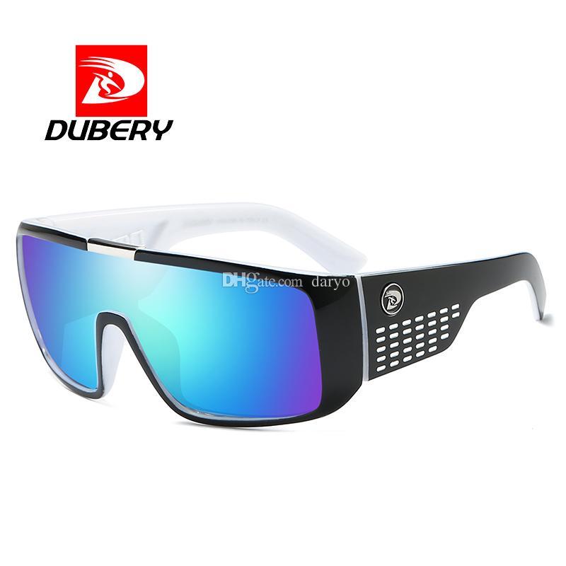 97033acb27 DUBERY 2018 Sunglasses Men Sport Goggle Oversized Sun Glasses For Men Retro  Frame Reflective Coating Brand Luxury Oculos UV400 2030 Baseball Sunglasses  John ...