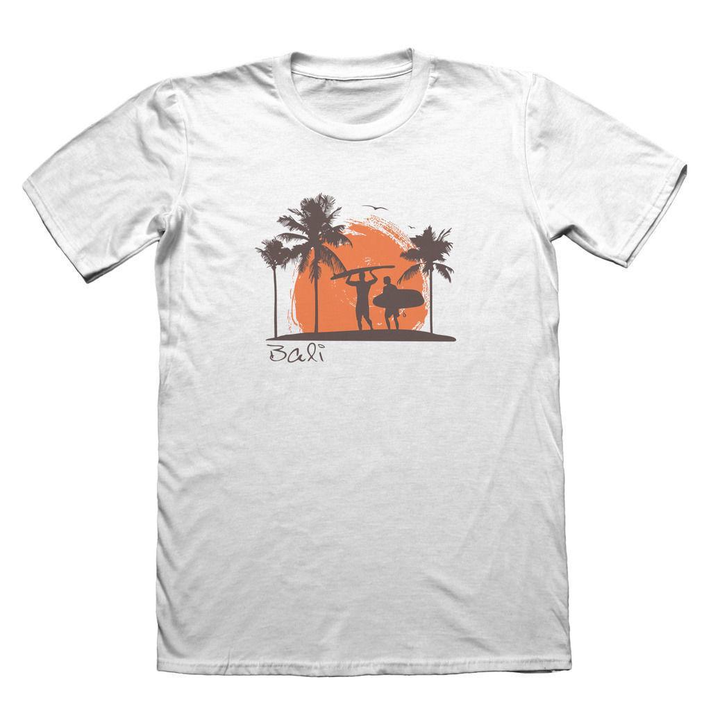 Bali Surfer Design On Cotton T Shirt Funny Mens Gift T Shirt Men