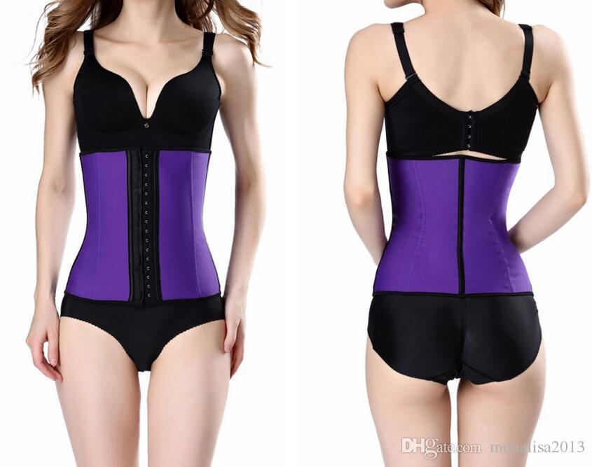 Entrenador de cintura de látex Corsés Hot Shapers Cinturones de control de abdomen Cintura de látex Cincher Faja de mujer Fajas Workout Body Shape