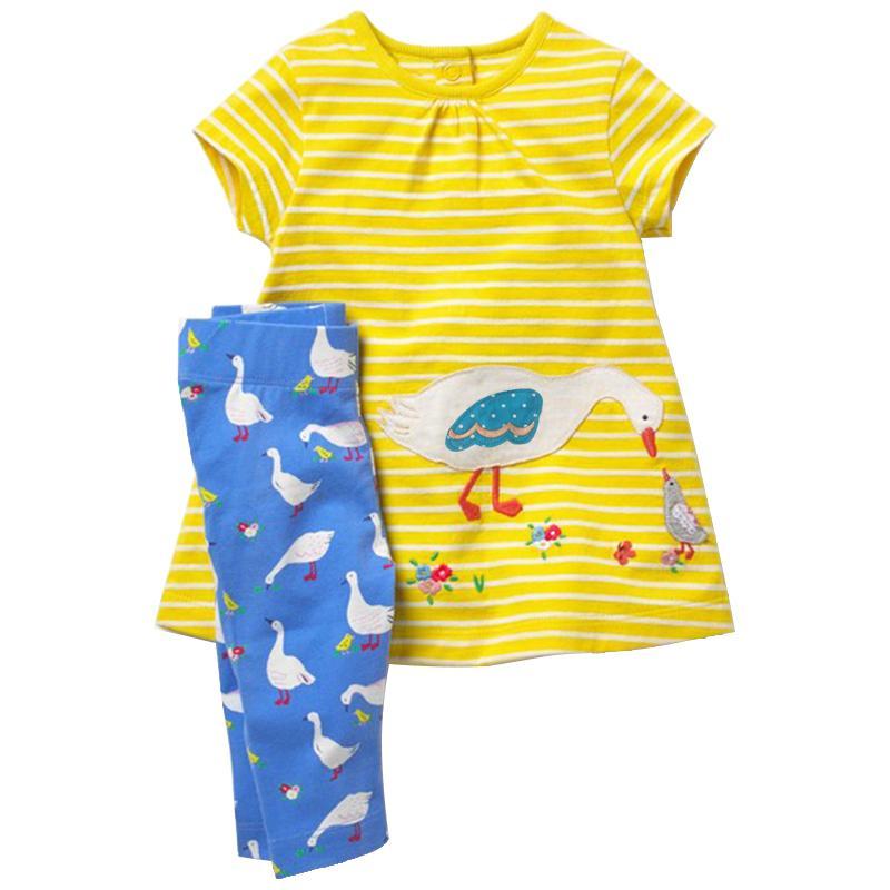 Compre 2 Unids Set Ropa De Bebé Niña 2018 Verano Infantil Vestido De Recién  Nacido Tops + Flamingo Imprimir Pantalones Leggings Marca Niños Ropa  Conjunto ... 23d3bc5e227d