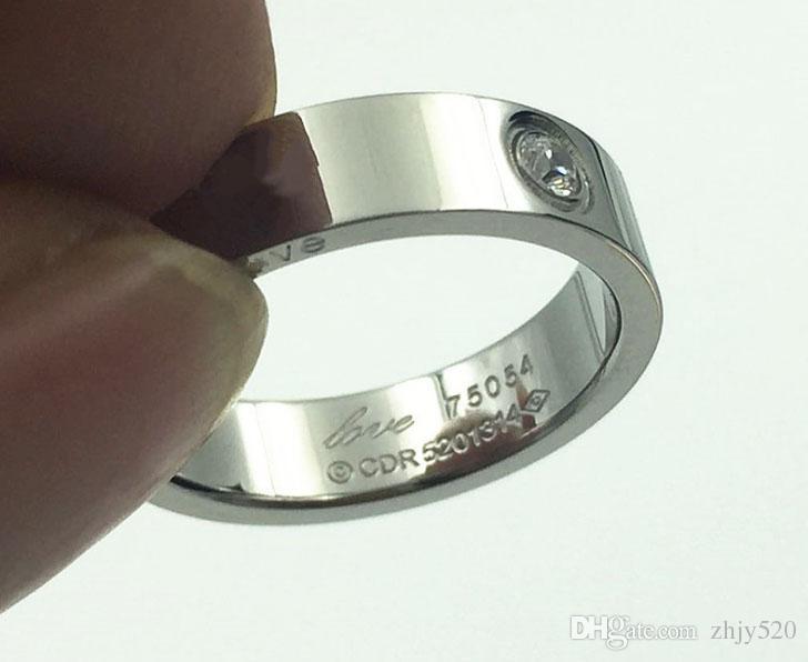 Marque de mode Titane acier rose or bague d'amour argent bague anneau tournevis bijoux de mariage cadeau d'anniversaire Pour femmes hommes anneaux