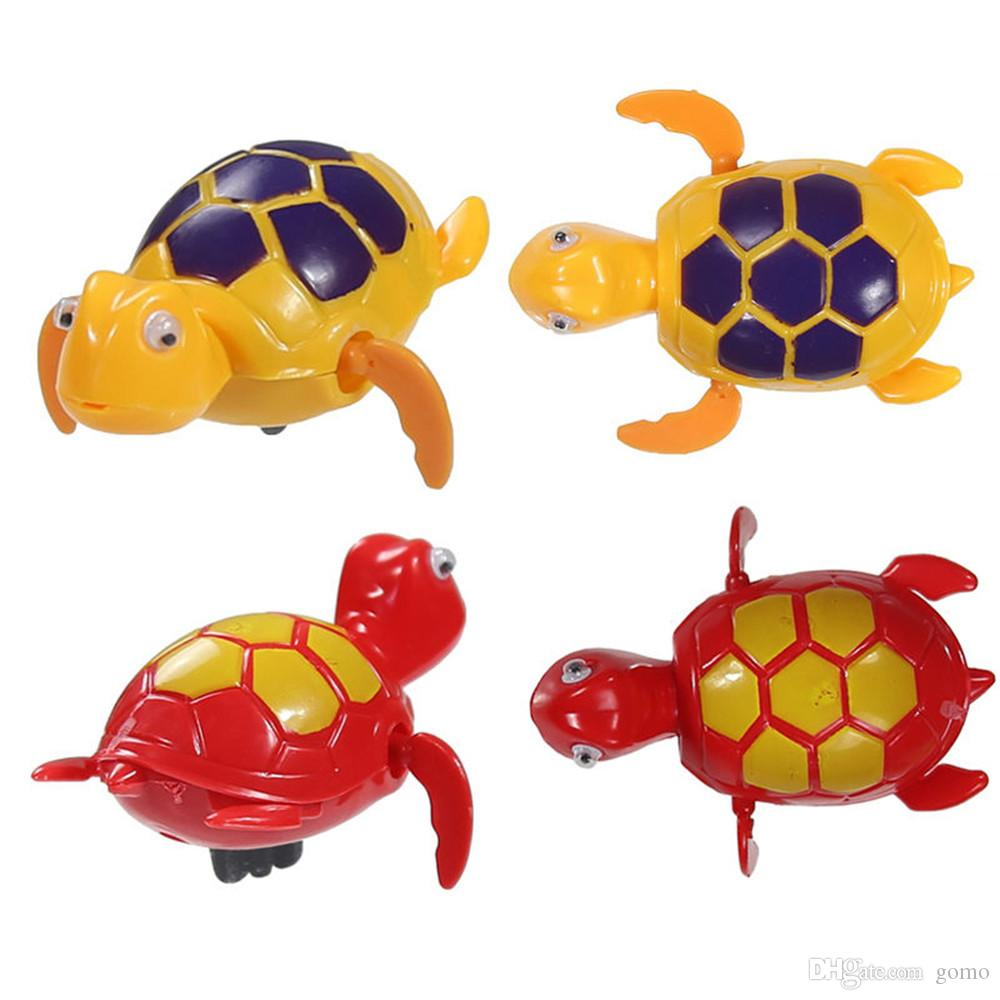 Funny Toys Swimming Chain Turtle Baby Bath Toys Chain On The Discus Fish Tail Moving ChildrenTake A bath Toy