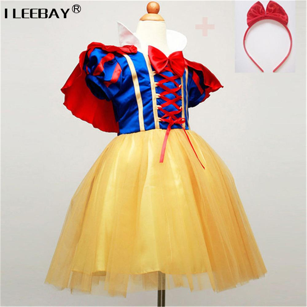 Children Cosplay Dress Snow White Girl Princess Dress Halloween Party  Costume Children Clothing Sets Kids Clothes Girls Dresses Y1892113