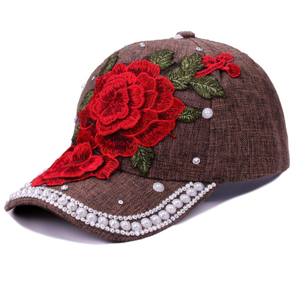 ed3da93075fc0 2018 New Hot Fashion Roses Men Women Baseball Caps Spring Summer Sun Hats  For Women Solid Snapback Cap Wholesale Dad Hat Caps Lids From Frenky